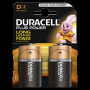 Duracell Plus Power D Batteries 2s (MN1300B2PP)